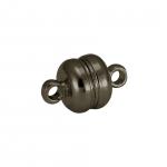 Magnetverschluß, 13X8mm, Loch-Ø 1mm, Metall, bronzefarben