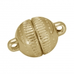 Magnet-Kugelverschluß, 10mm, Metall, goldfarben