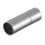 Steckverschluß, 20X7mm, Loch-Ø 6mm, Metall, silberfarben