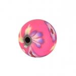 Fimoperle, 8mm, rund, dunkelrosa
