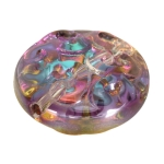 Glasperle, 14X6mm, lila farben (irrisierend)