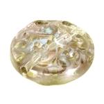 Glasperle, 14X6mm, gold-transparent (irrisierend)