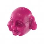 Motivperle, 12X8mm, Buddha, pink