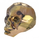 Totenkopf, 22mm, Crystal Metallic Gold