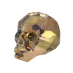 Totenkopf, 14mm, Crystal Metallic Gold
