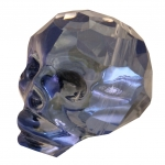 Totenkopf, 22mm, transparent-navy metallic