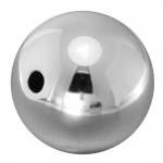 Kunststoffperle, 22mm, rund, silberfarben