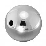 Kunststoffperle, 18mm, rund, silberfarben