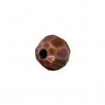 Kunststoffperle (10 Stück), 6mm, facettiert, kupferfarben