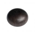 Holzperle (Tiger Ebony Wood / Ebenholz), 10X6mm, Rondell, dunkelbraun