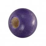Holzperle (10 Stück), 10mm, rund, lilafarben