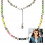 Anleitung Halskette mit pastellfarbenen Perlen