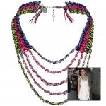 Anleitung Halskette mit Satinbändern