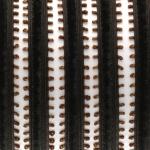Samtband mit Schlaufen, 50cm, 14mm breit, dunkelbraun