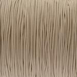 elastisches Band (50cm), 1,5mm, rund, beige