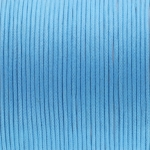 Gewachstes Baumwollband, 100cm, 2mm breit, hellblau