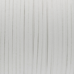 Schmuckband in Wildlederoptik (100cm), 3mm breit, weiß