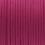 Schmuckband in Wildlederoptik (100cm), 3mm breit, dunkelpink