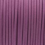 Schmuckband in Wildlederoptik (100cm), 3mm breit, helllila