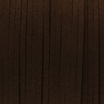 Schmuckband in Wildlederoptik (100cm), 3mm breit, dunkelbraun
