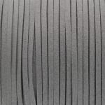 Schmuckband in Wildlederoptik (100cm), 3mm breit, grau