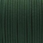 Schmuckband in Wildlederoptik (100cm), 3mm breit, dunkelgrün