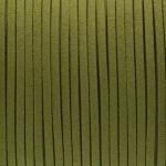 Schmuckband in Wildlederoptik (100cm), 3mm breit, khaki-grün