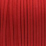 Schmuckband in Wildlederoptik (100cm), 3mm breit, rot