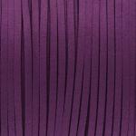 Schmuckband in Wildlederoptik (100cm), 3mm breit, lilafarben