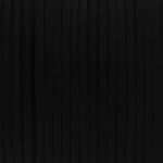 Schmuckband in Wildlederoptik (100cm), 3mm breit, schwarz