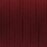 Schmuckband in Wildlederoptik (100cm), 3mm breit, dunkelrot