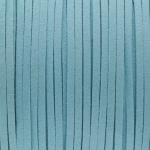 Schmuckband in Wildlederoptik (100cm), 3mm breit, hellblau