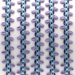 Fantasieband mit Schlaufen, 100cm, 10mm breit, violett (bunt)