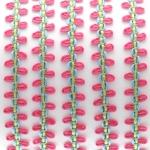 Fantasieband mit Schlaufen, 100cm, 10mm breit, rosa (bunt)