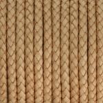 Geflochtenes Lederband, 50cm, 5mm breit, natur