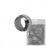 2mm Premium Quetschperle (20 Gramm Vorratspackung, ca. 1000 Stück), silberfarben