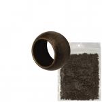 2mm Premium Quetschperle (20 Gramm Vorratspackung, ca. 1000 Stück), bronzefarben