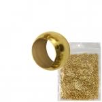 2mm Premium Quetschperle (20 Gramm Vorratspackung, ca. 1000 Stück), goldfarben
