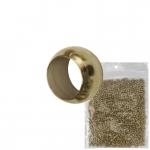 2mm Premium Quetschperle (20 Gramm Vorratspackung, ca. 1000 Stück), messingfarben