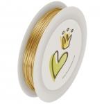 Bastel-/Schmuckdraht, 0,6mm breit, 6 Meter auf Spule, goldfarben