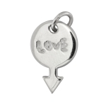 """Love""-Anhänger, 925 Sterling Silber, 16X10mm"
