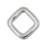 Spacer, 925 Sterling Silber, 12X12mm, rechteckig