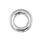 Spacer, 925 Sterling Silber, 10X10mm, rund