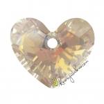 Swarovski Truely in Love Heart (6264), 18 mm, Crystal Golden Shadow (001 GSHA)