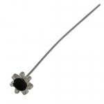 Fädelstift, 65X5mm, schwarz (silberfarben)