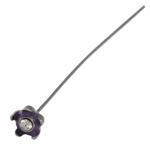 Fädelstift mit Strass, 65X5mm, violett (silberfarben)
