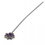 Fädelstift mit Strass, 65X5mm, blau (silberfarben)