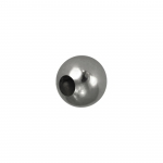 Edelstahl Perle, 5mm, silberfarben