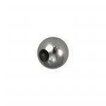 Edelstahl Perle, 4mm, silberfarben