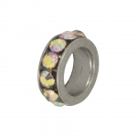 Strass-Spacer, 8X2mm, transparent AB